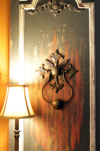 door and lamp